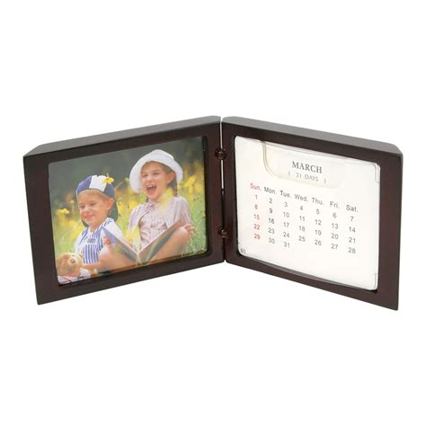 standing desk calendar with small picture frame 3 1 4 quot x