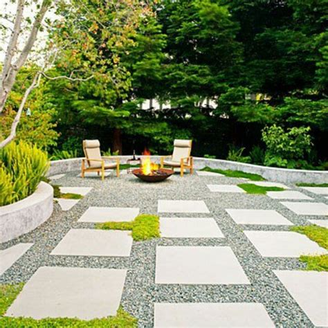 No Grass Backyard Garden Pinterest The O Jays Paver And Gravel Patio