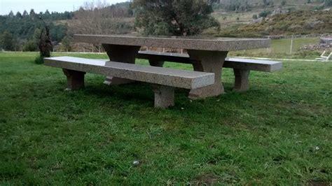 mesa de piedra para jard 237 n realizada a mano construper - Mesa Piedra Jardin