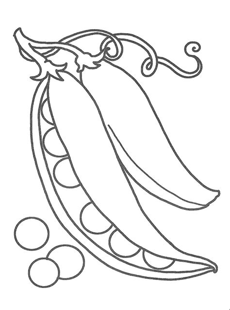 pea coloring pages    print