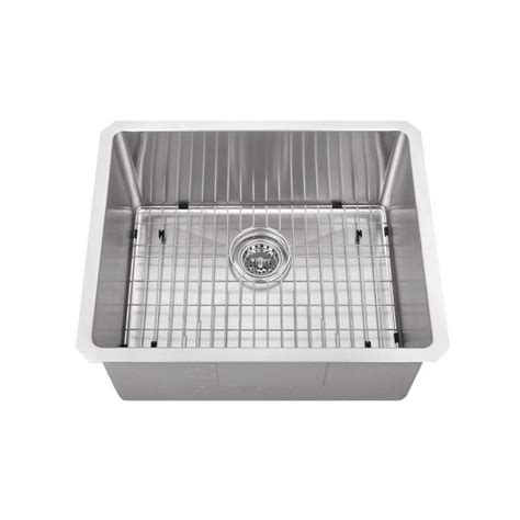 Stainless Steel Prep Sinks by Cahaba Undermount Stainless Steel 23 In Zero Radius