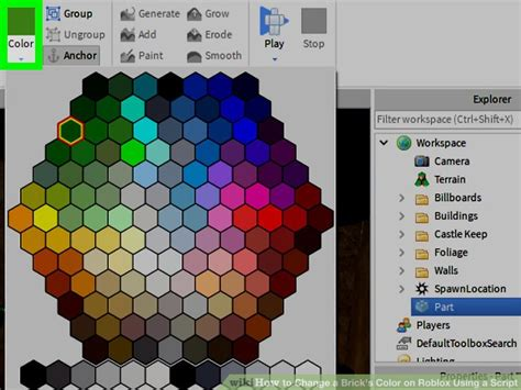 roblox colors how to change a brick s color on roblox using a script 7