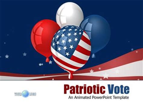 Patriotic Vote A Powerpoint Template From Presentermedia Com Patriotic Powerpoint Templates