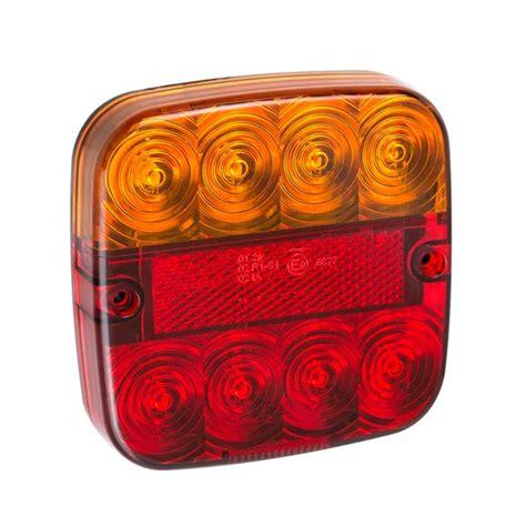 lichte boottrailer achterlicht 12v 5 functies 107x107mm 8led boottrailershop nl