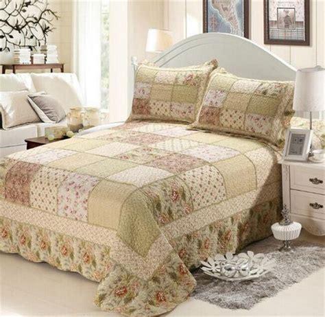 Seprei Bedcover Retro 230x230 2 aliexpress buy 2015 home textile retro bedspread patchwork grids comforter 3pcs