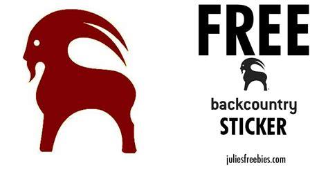 Backcountry Sticker