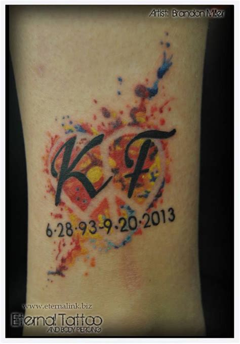 watercolor tattoo artists dc watercolor memorial peace sign artist brandon
