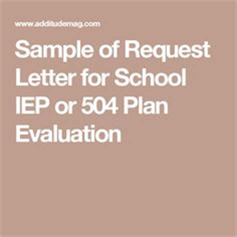 Sle Letter Requesting 504 Evaluation Letter Sle And Letters On
