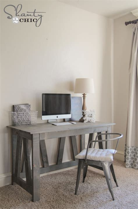 diy rustic computer desk free woodworking plans diy desk