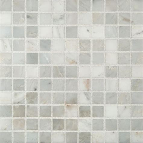 marble mosaic tile ms international arabescato carrara 12 in x 12 in x 10 mm honed marble mesh mounted mosaic