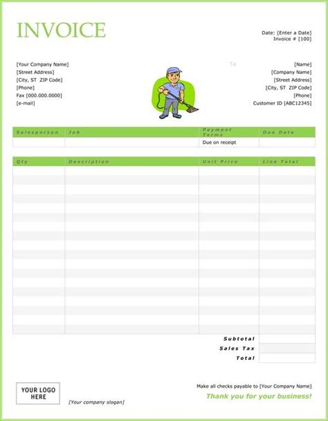 Cleaning Service Invoice 19 Free Cleaning Invoice Templates Pinterest Invoice Template Cleaning Service Template Free