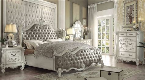 bedroom sets vintage 4 piece versailles vintage gray bone white bedroom set