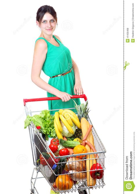 Time To Actually Buy Groceries by Grocery Cart Of Vegetables Supermarket Trolleys