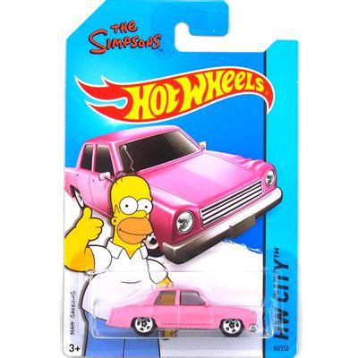 Wheels The Simpsons Pink sale wheels simpsons family pink car models metal