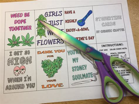 valentines gifts for stoners diy stoner s day cards chronic crafter