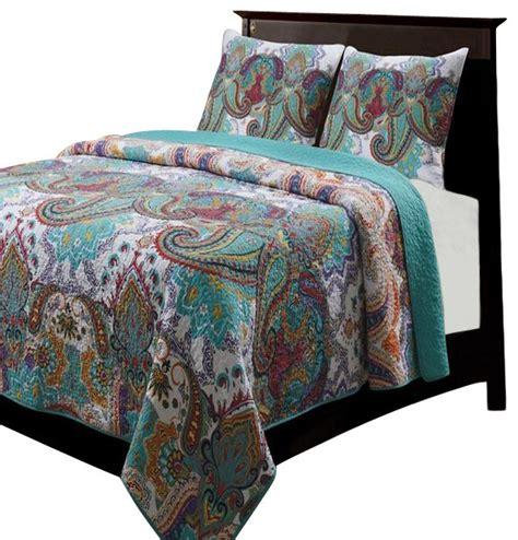 Houzz Bedroom Quilts Greenland Nirvana Quilt Sham Set 3