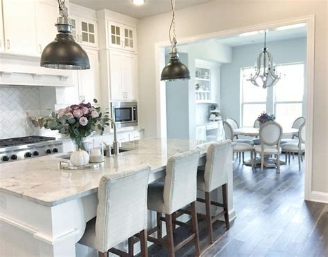 light gray kitchen walls white cabinet paint color is sherwin williams pure white