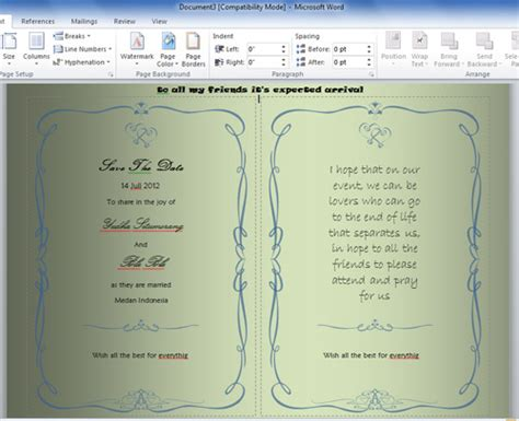 template undangan dengan photoshop tutorial cara membuat undangan dengan microsoft word