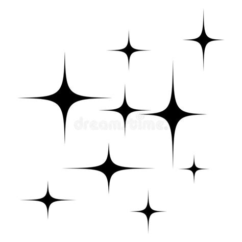 stars silhouette vector symbol icon design stock vector