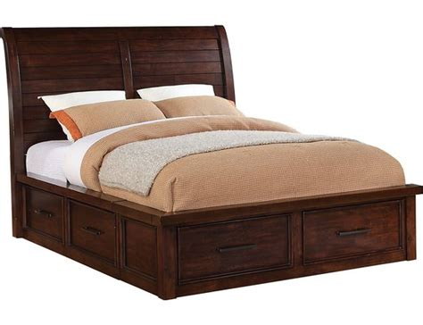 Shop King Bed Sonoma King Storage Bed Brown The O Jays Storage
