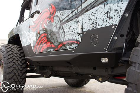 jeep jk rock lights jcr offroad crusader rock sliders w led rock lights for 2