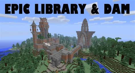 Home Design Diamonds minecraft library and piston dam minecraft project