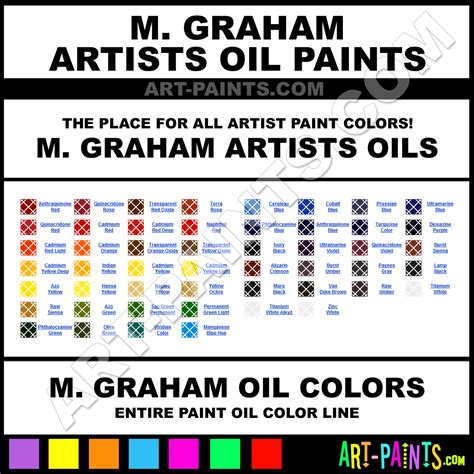 m graham artists paint colors m graham artists paint colors artists color artists oils