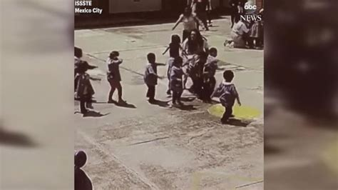 earthquake kids video shows children being evacuated after mexico city