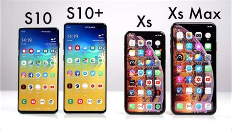 samsung galaxy    apple iphone xs xs max