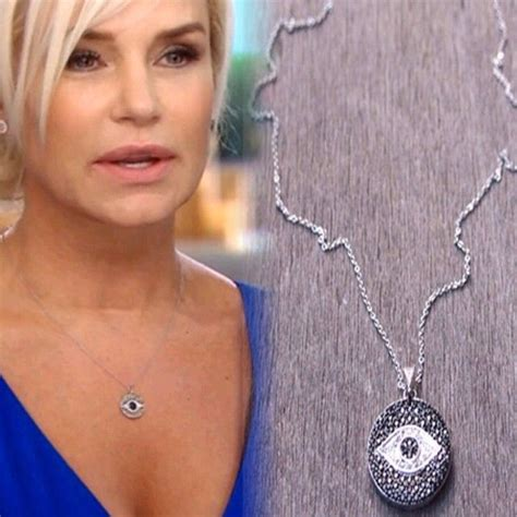 real housewives of beverly hills yolanda necklace sterling silver evil eye necklace like the one seen on