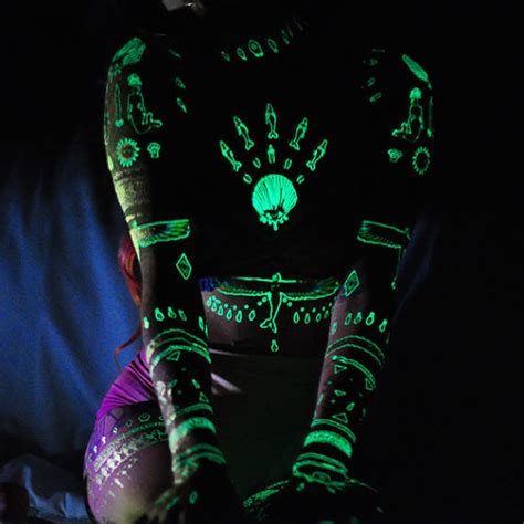 glow in the dark spine tattoo 26 tattoos to wear only for a night