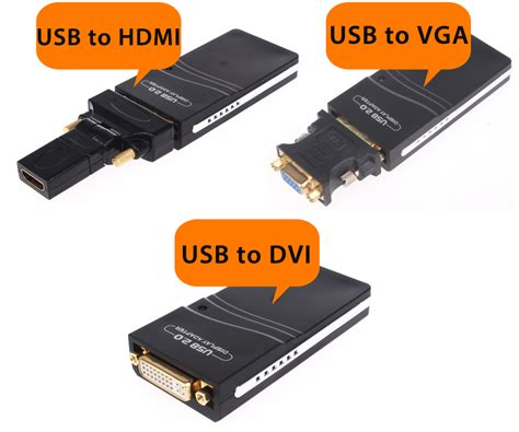 Converter Usb Ke Hdmi usb 2 0 to vga dvi hdmi graphics adapter converter