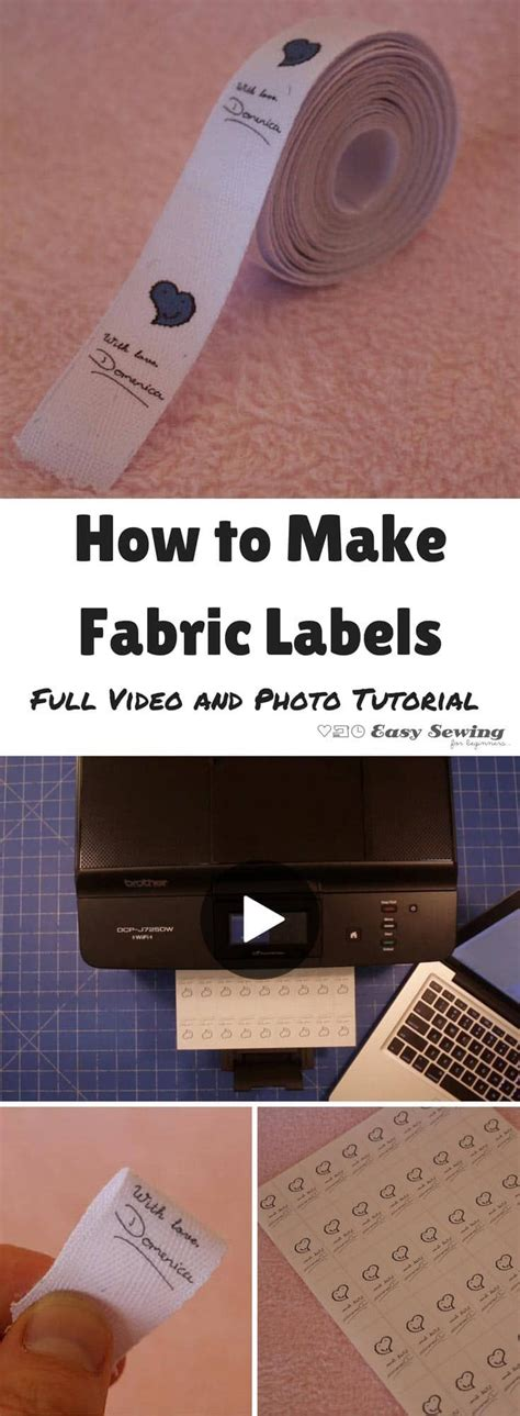 How To Make Fabric Transfer Paper - 25 unique fabric labels ideas on diy