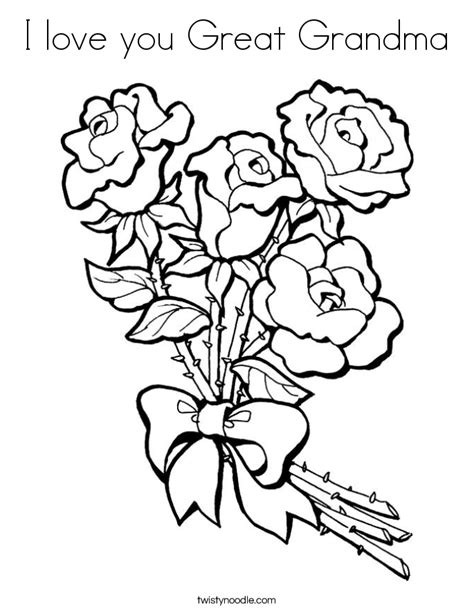 coloring pages i love grandma i love you great grandma coloring page twisty noodle