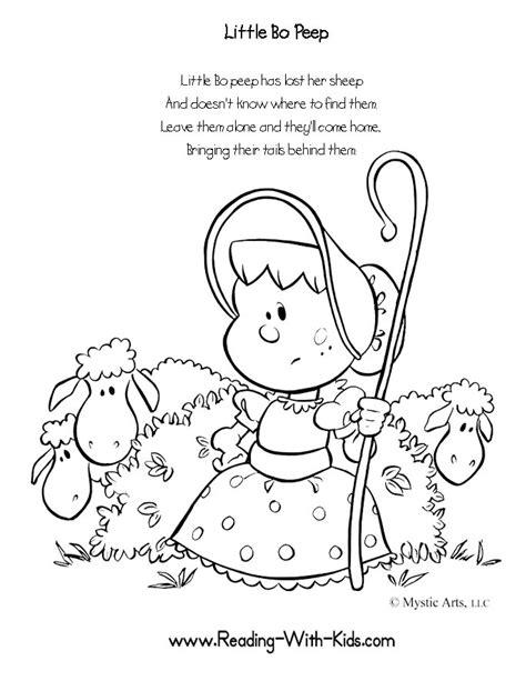 printable nursery rhymes inkspired musings little bo peep nursery rhymes with