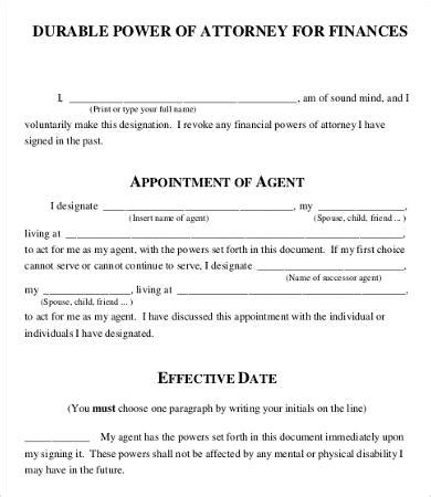 free printable power of attorney template power of attorney form free printable 9 free word pdf