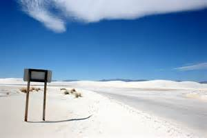 white sands the largest gypsum desert is in new mexico