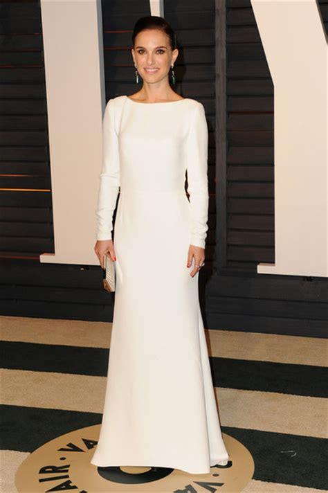 Get A Dress Like Natalie Portmans by Dress Natalie Portman Oscars 2015 White Dress Maxi