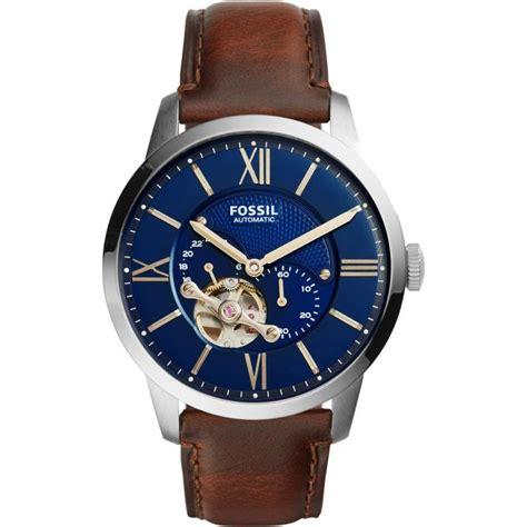 Montre Fossil Townsman ME3110   Montre Cadran Bleu Homme sur Bijourama   montre Homme pas cher