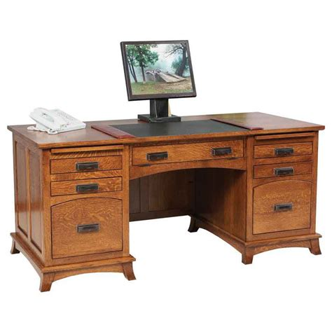 Mt Eaton Executive Desk Amish Crafted Furniture Amish Desk