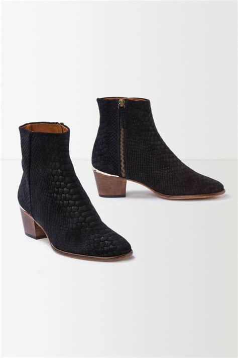 anthropologie shoes anthropologie go slither ankle boots in black lyst