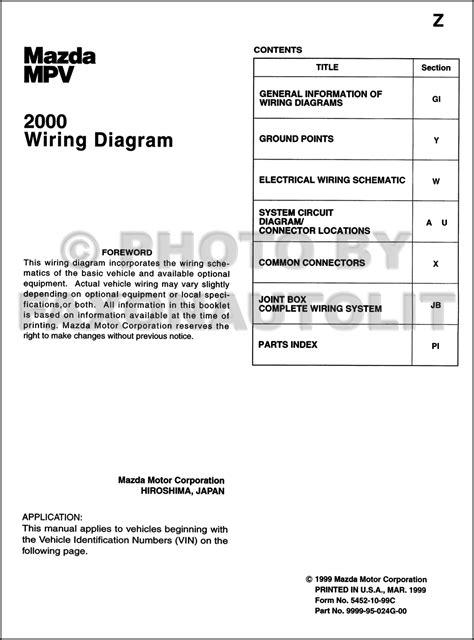 2000 mazda mpv wiring diagram wiring diagram manual