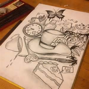 25 ideas alice wonderland drawings alice wonderland tattoos