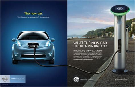 nissan leaf ad g e says eco eco hello hello the york times