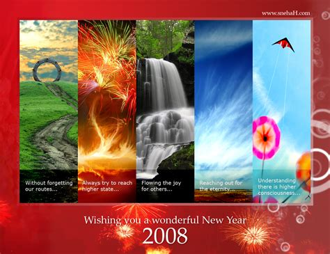 wish you all a wonderful new year 2008 wittysparks
