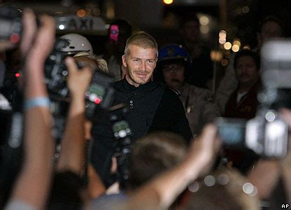 The Beckhams Arrive In Los Angeles by Cbbc Newsround Pictures In Pictures The Beckhams