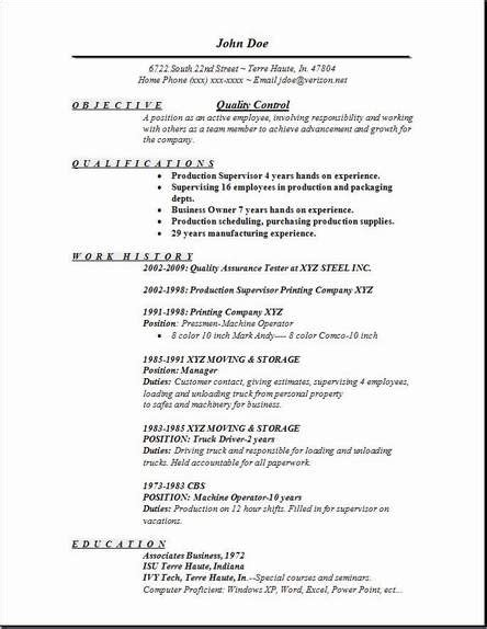 Quality Resume by Quality Resume Occupational Exles Sles Free