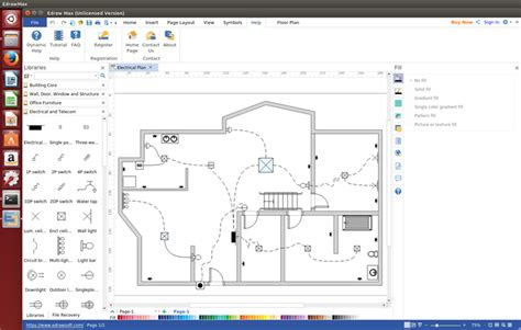 draw schematics linux wiring plan software for linux