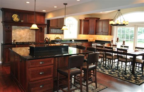 kitchen cabinets with black granite countertop cherry
