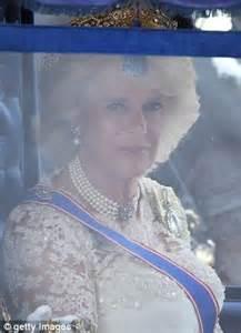 queen s speech duchess of cornwall glitters in queen
